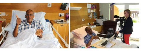 Tony Jules at Keech Hospice