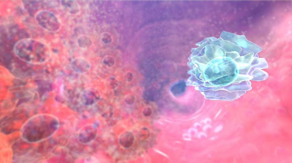 Virtual reality representation of cancer virology - image: Genulin Interactive