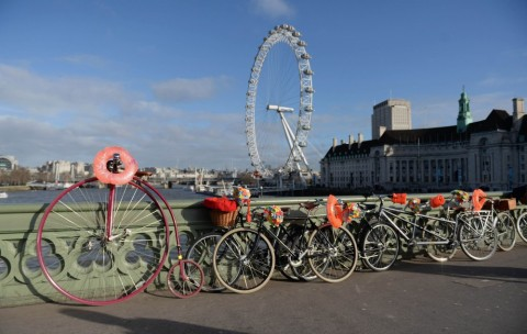 Launch of BHF London to Brighton Bike Ride - Photo: Anthony Devlin/PA Wire