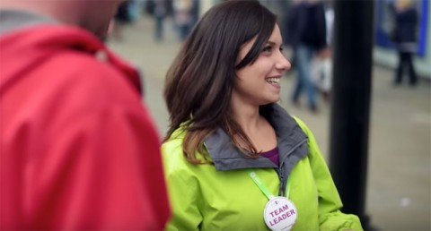 Francesca Passi, Oxfam street fundraiser