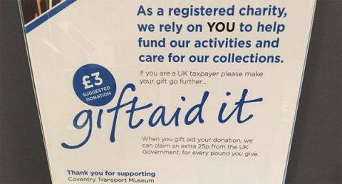 Gift Aid at Coventry Transport Museum
