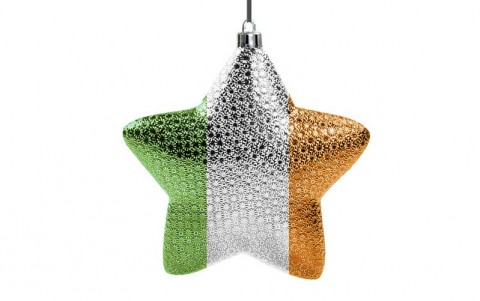 Irish Christmas star bauble