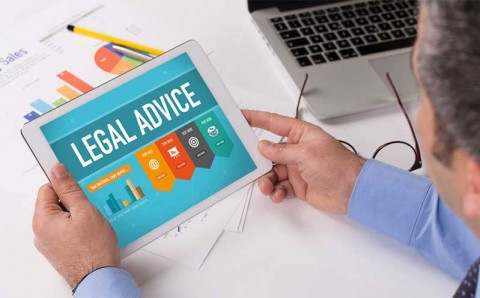 Legal advice on screen - Relif on Shutterstock.com