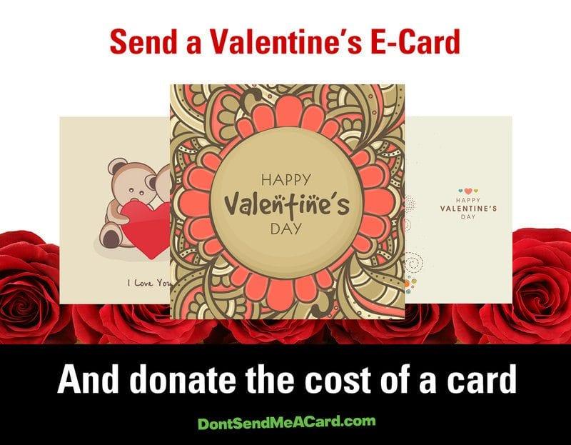 DO send me a card, but make it a charity-friendly e-card