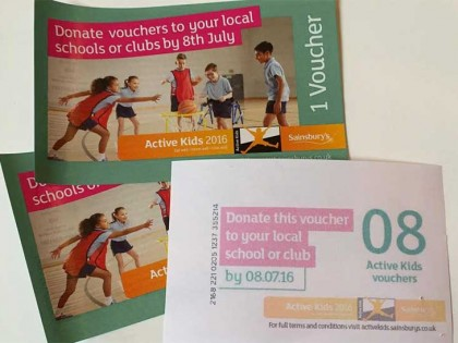 Sainsbury's Active Kids 2016 vouchers are now available