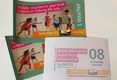 Sainsbury's Active Kids vouchers 2016