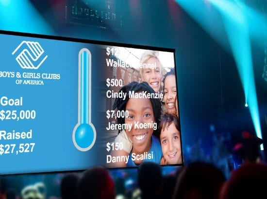 Fundraising campaign thermometer
