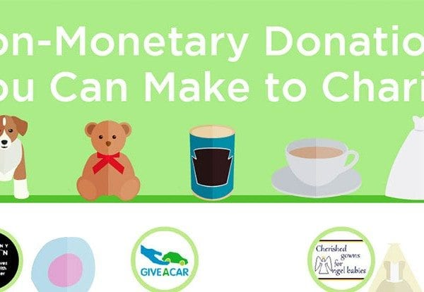 Non-monetary donations you can make to charity