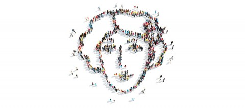 Woman's face formed by a crowd - Tai11 on Shutterstock.com