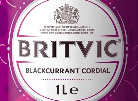 Britvic Blackcurrant Cordial label