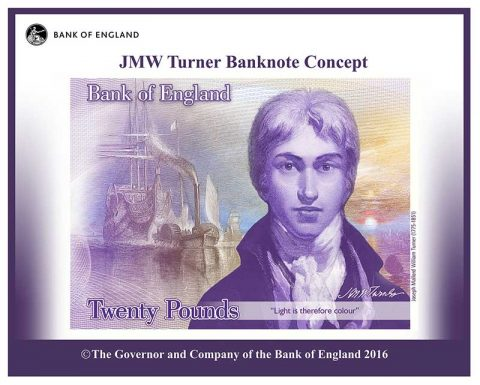 JMW Turner Banknote Concept. Copyright: Bank of England