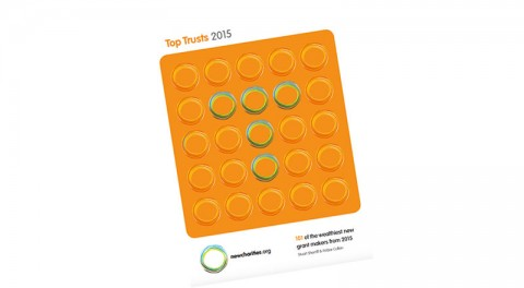 Cover of Top Trusts 2015 from New Charities