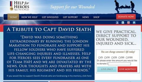 Helpfor heroes captain David Seath London Marathon