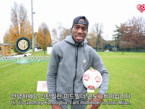 Footballers take part in Shoot for Love challenge