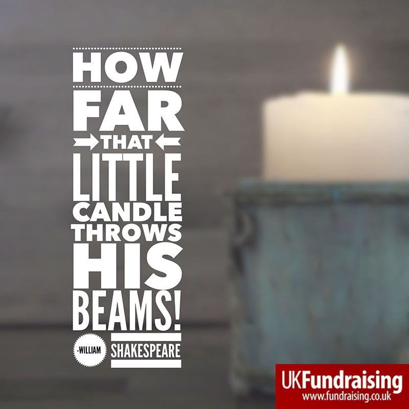 How far that little candle throws his beams