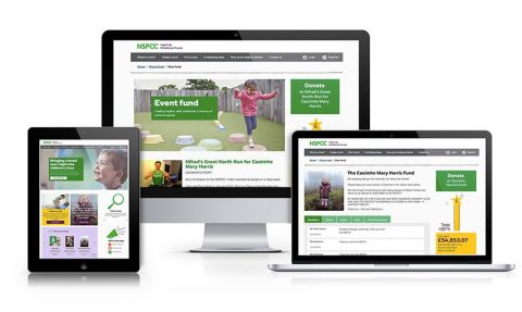 New look NSPCC Tribute Fund website
