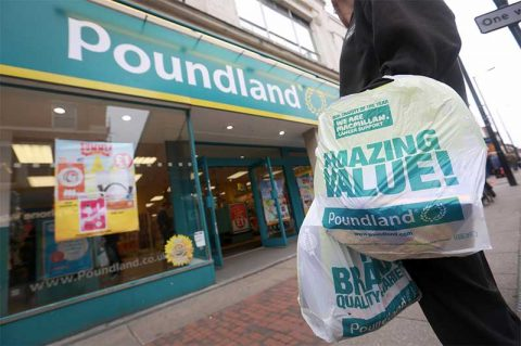 Poundland plastics bags raise funds for Macmillan Cancer Support