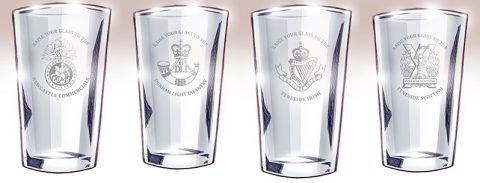 World War One Centenary Ale beermat - beer glasses