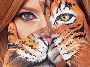 Animal hand art photos promote WWF's Wear it Wild Day