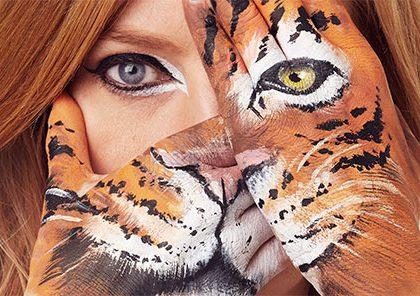 Animal hand art photos promote WWF's Wear it Wild Day