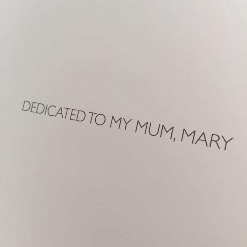 Dedicated to Jones' mother Mary