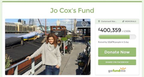 Jo Cox fund appeal reaches £400k