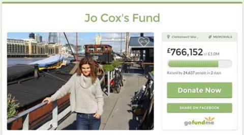 Jo Cox's Fund reaches £766,152