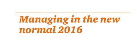 Managing the new normal report 2016