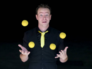 One man juggling challenge for cancer research