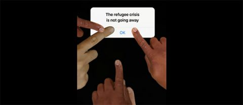 The refugee crisis is not going away - BBC Media Action mobile phone story