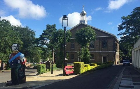 Chatham Historic Dockyard Church, home of Fundraising Camp - Arts in July 2016