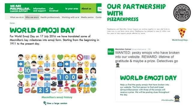Macmillan and World Emoji Day 2016
