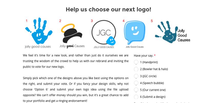 Jolly Good Causes rebrand