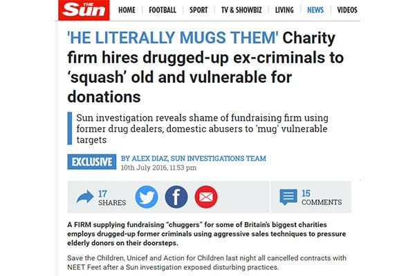 The Sun criticises NEET Feet, 11 July 2016