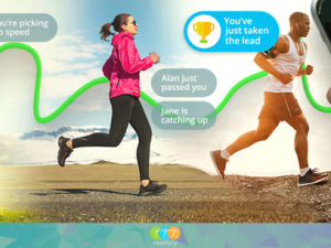 Running app launches with transatlantic virtual charity race
