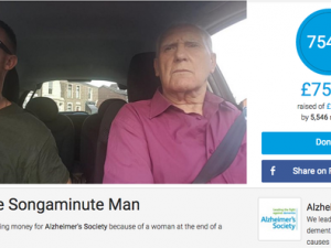 Songaminute man raises over £75k for Alzheimer's Society