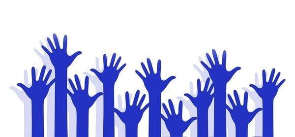 hand up volunteer