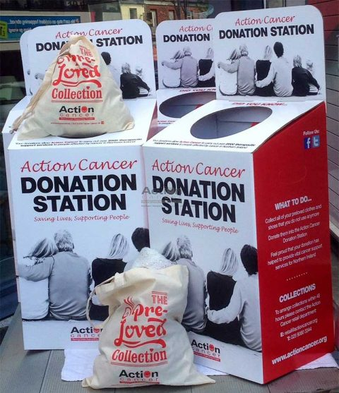 Action Cancer Donation Stations. Image: Action Cancer