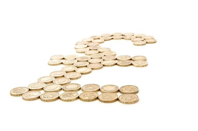pound sign in pound coins