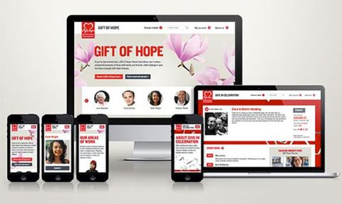 BHF Gift of Hope and Give in Celebration website and mobile redesigns