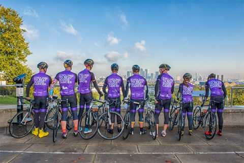 Bloodwise cyclists take part in Prudential RideLondon