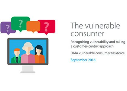 DMA's whitepaper explains how organisations can better support vulnerable customers
