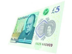 Collectable new £5 notes auctioned for charities