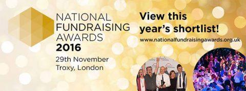 National Fundraising Awards 2016 shortlist