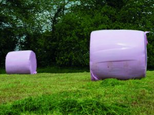 Pink bale wrap raises £18,500 for Breast Cancer Now