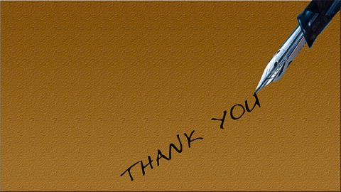 Handwritten thank you - image: PIxabay.com