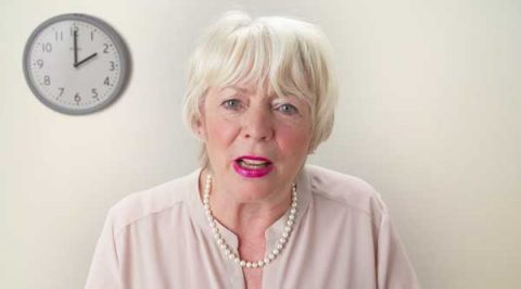 Alison Steadman in Marie Curie video