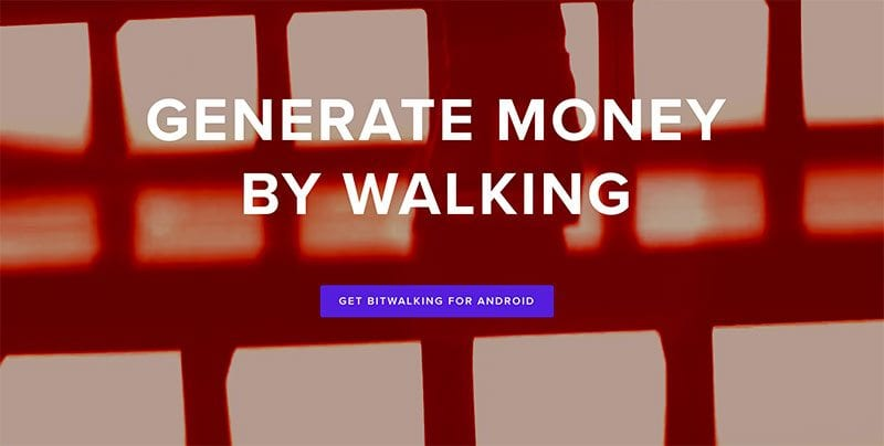 Generate money by walking, with Bitwalking