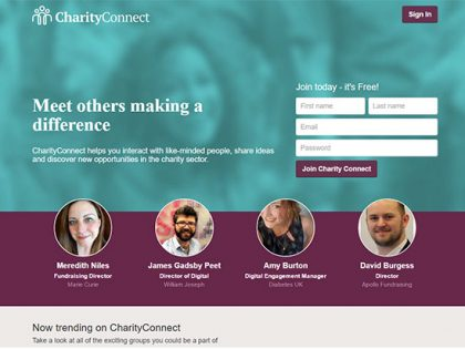 CharityJob creates CharityConnect as online community for the charity sector
