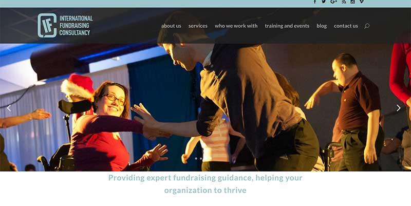 International Fundraising Consultancy Canada website